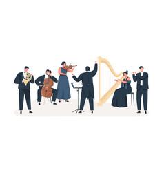 symphony orchestra flat vector image