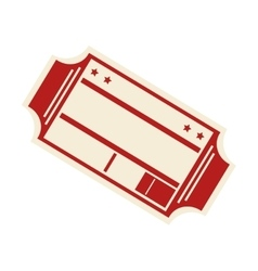 ticket cinema isolated icon vector image