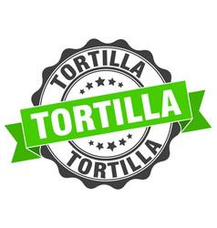 Tortilla stamp sign seal vector