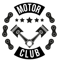 Vintage Motor Club Signs and Label vector image
