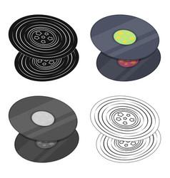 Vinyl recordshippy single icon in cartoon style vector
