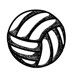 volleyball sport ball emblem vector image