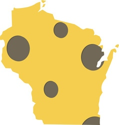 Wisconsin State vector image