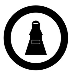 Woman terrorist black icon in circle vector