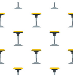 yellow bar stool pattern flat vector image