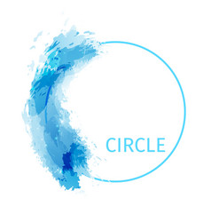 zen circle abstract modern background design vector image