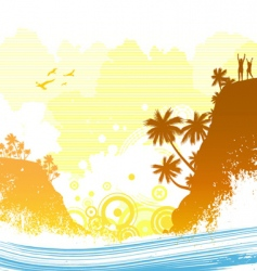 exotic island vector image vector image
