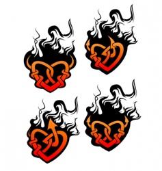 heart tattoos vector image