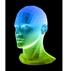 Human head Abstract vector image