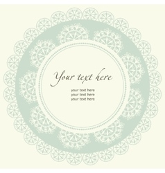 Lace frame in retro style vector image