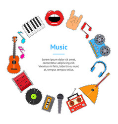 musical instruments and equipment banner card vector image