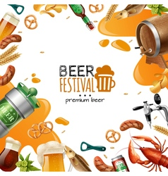 Beer Festival Template vector image