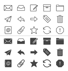 Email icons thin vector image vector image