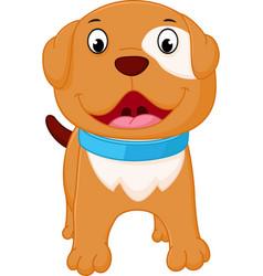 happy dog cartoon vector image vector image