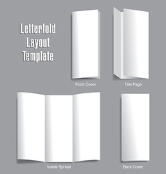 Letterfold Layout Template vector image