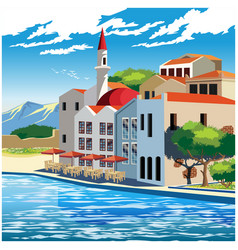 picturesque quay vector image vector image