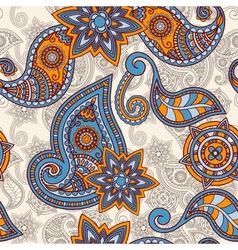 seamless hand drawn paisley pattern clipping masks vector image