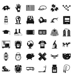 switzerland icons set simple style vector image vector image