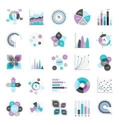 Business Charts Set vector image vector image