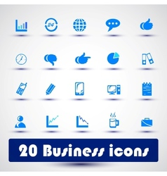 Business icon color vector