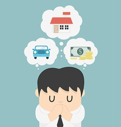 Dreams of a businessman vector image