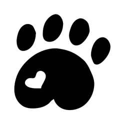 High quality original of cat paw with vector