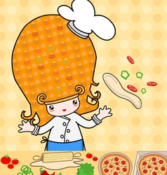 Little pizza vector image vector image