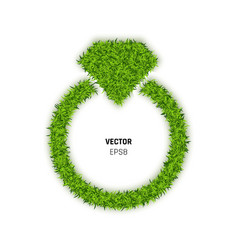 Ring made of green grass vector