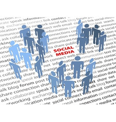 social media words people network page text vector image vector image