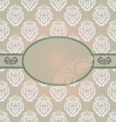 Vintage invitation floral card vector image vector image