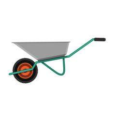 garden metal wheelbarrow vector image vector image