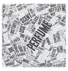 History of perfume text background wordcloud vector