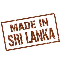 made in sri lanka stamp vector image vector image