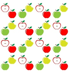 Seamless pattern of set apples vector image