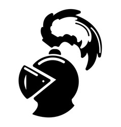 warrior knight helmet icon simple style vector image