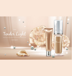 3d realistic concealer with pearls vector image