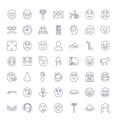 49 face icons vector