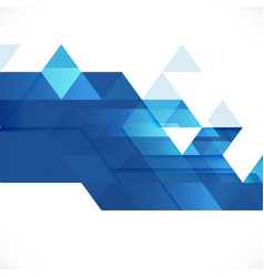 abstract blue geometric layout template on white vector image