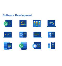 Agile methodology software development icon set vector