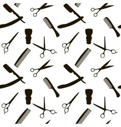 Barber Shop or Hairdresser background seamless vector