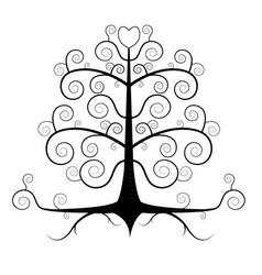 black tree vector image