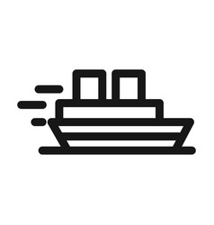 Boat maritime transport line style icon vector
