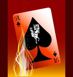 burning death card vector image