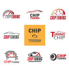 Chip tuning logo vector