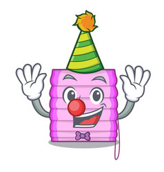 Clown window with blinds isolated on mascot vector