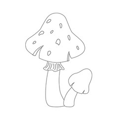 colorless funny cartoon red mushrooms vector image