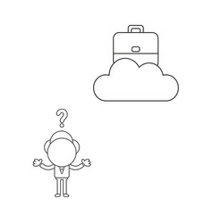 confused businessman character with briefcase on vector image