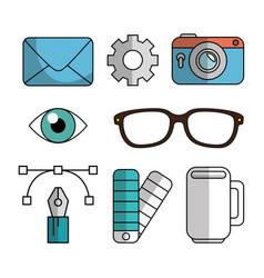 Creative ideas set elements vector