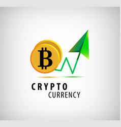 Crypto currency logo icon vector