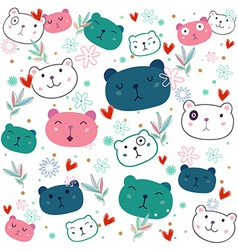 Fancy Bear pattern vector